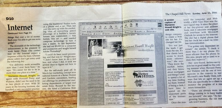 Chapel-Hill-newspaper-2000-Marianne Howell Wright- Website